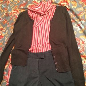 Vintage silky blouse with neck tie
